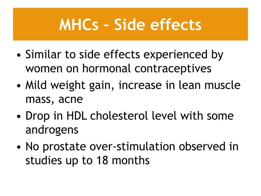 MHCs – Side effects