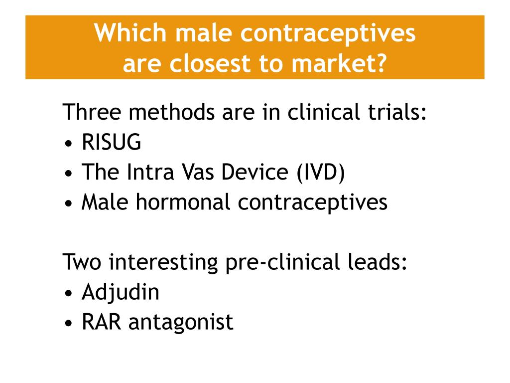 Which male contraceptives