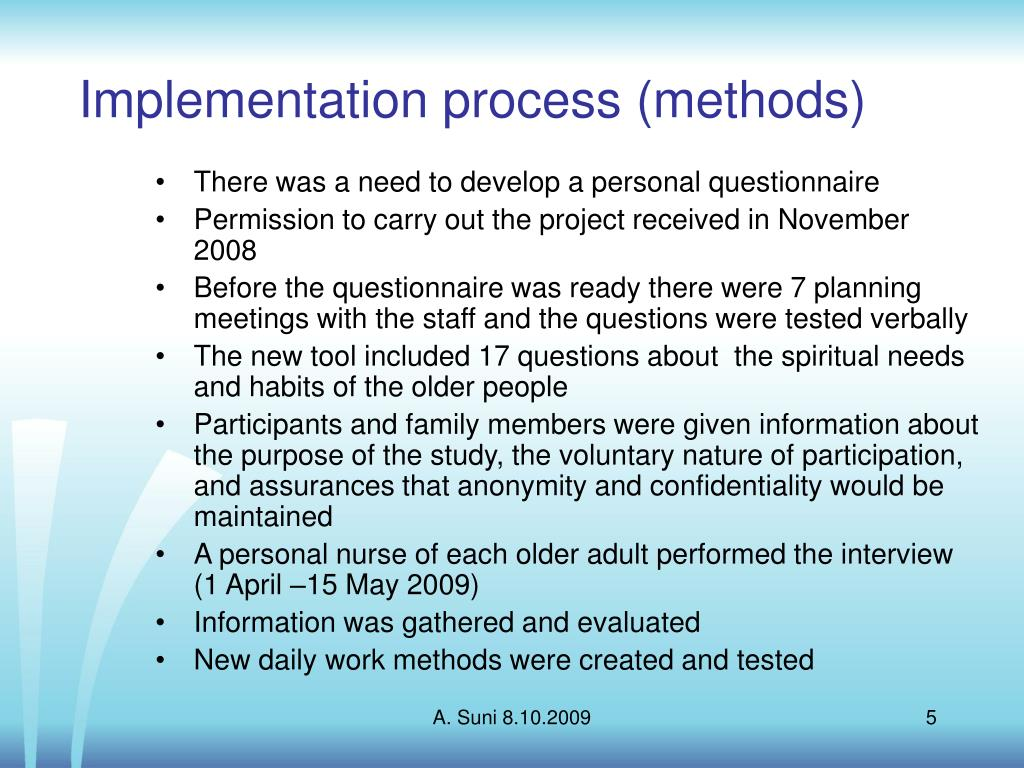 Implementation process (methods)