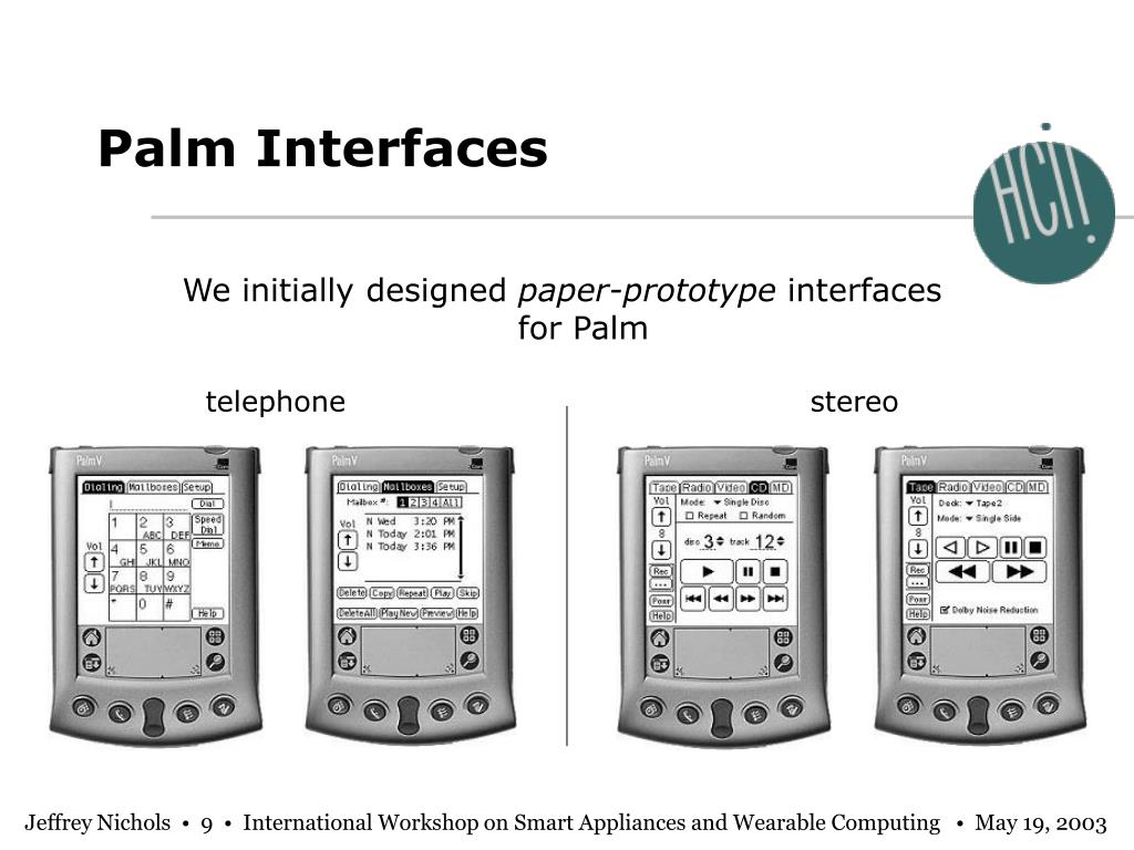 Palm Interfaces