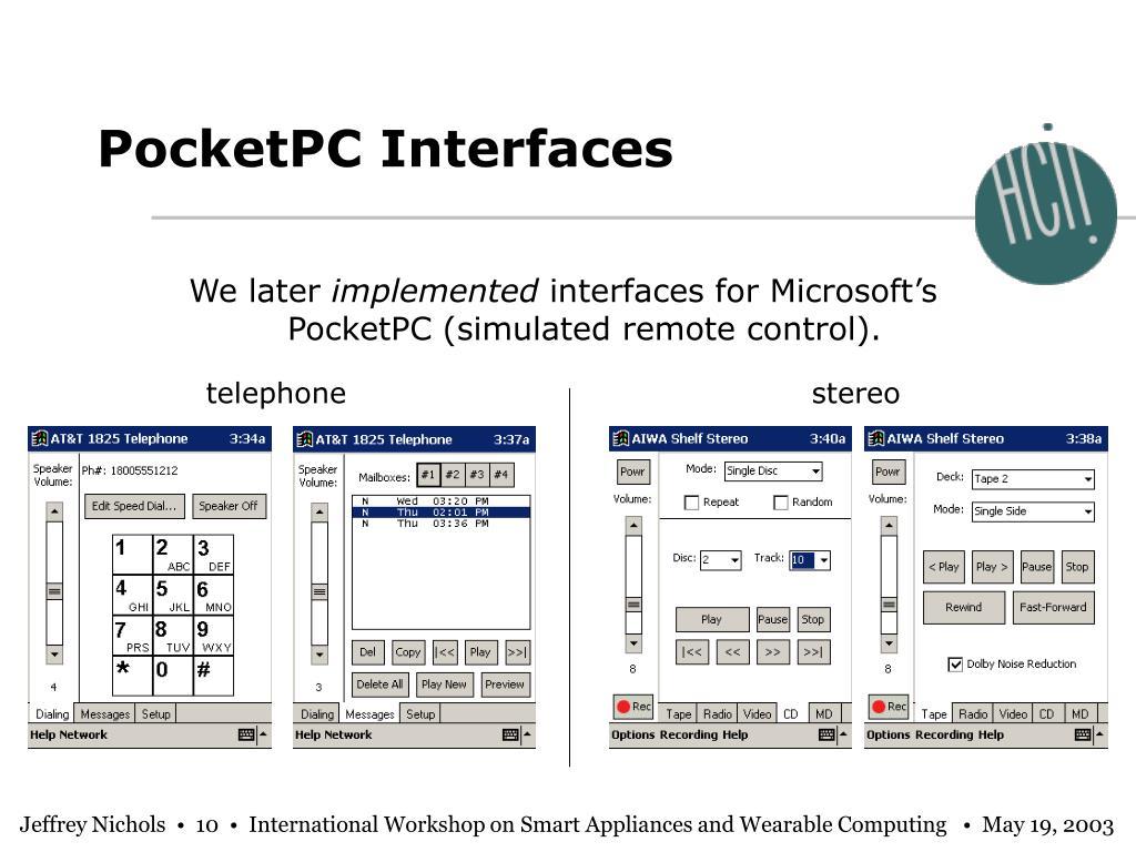 PocketPC Interfaces