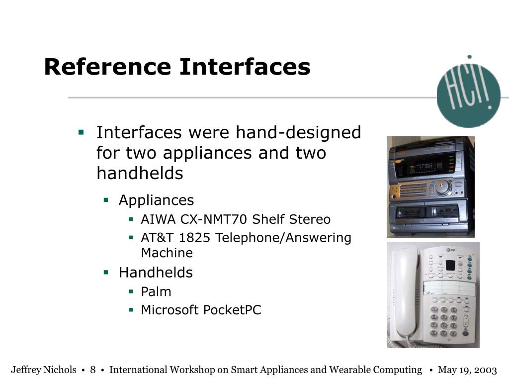 Reference Interfaces