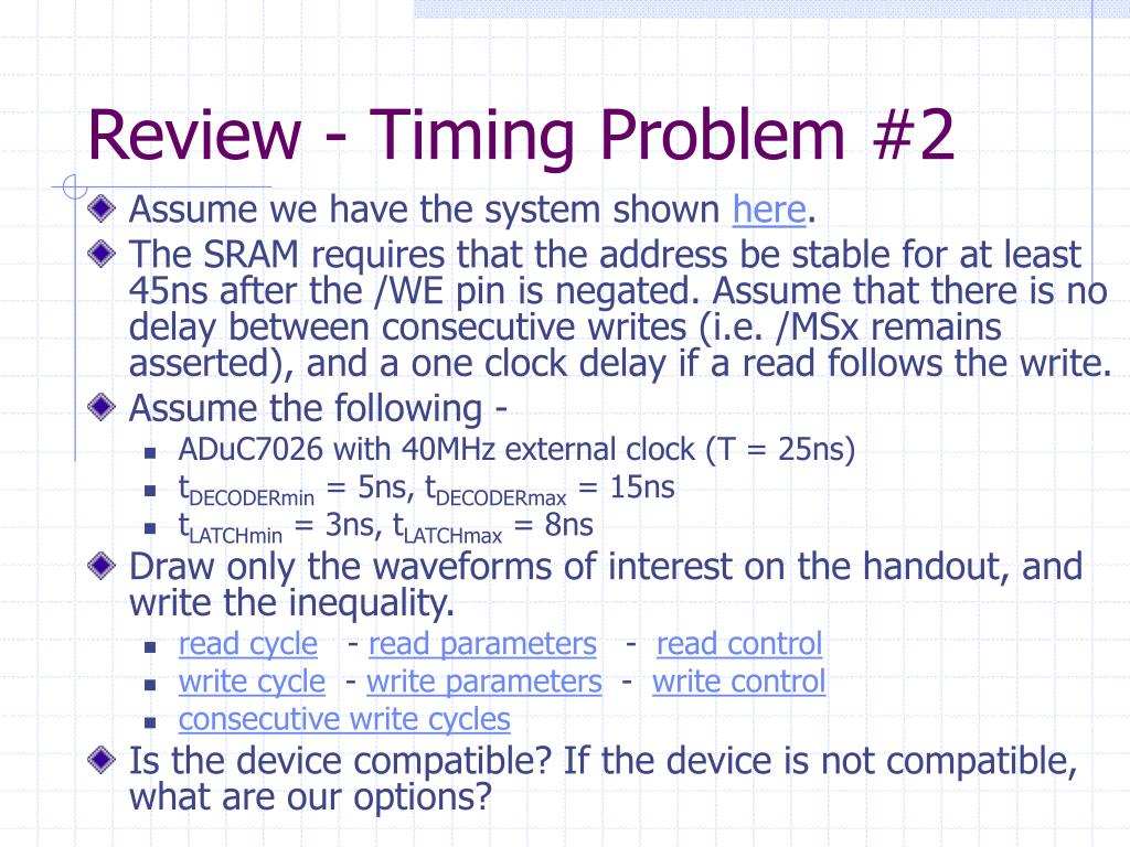 Review - Timing Problem #2