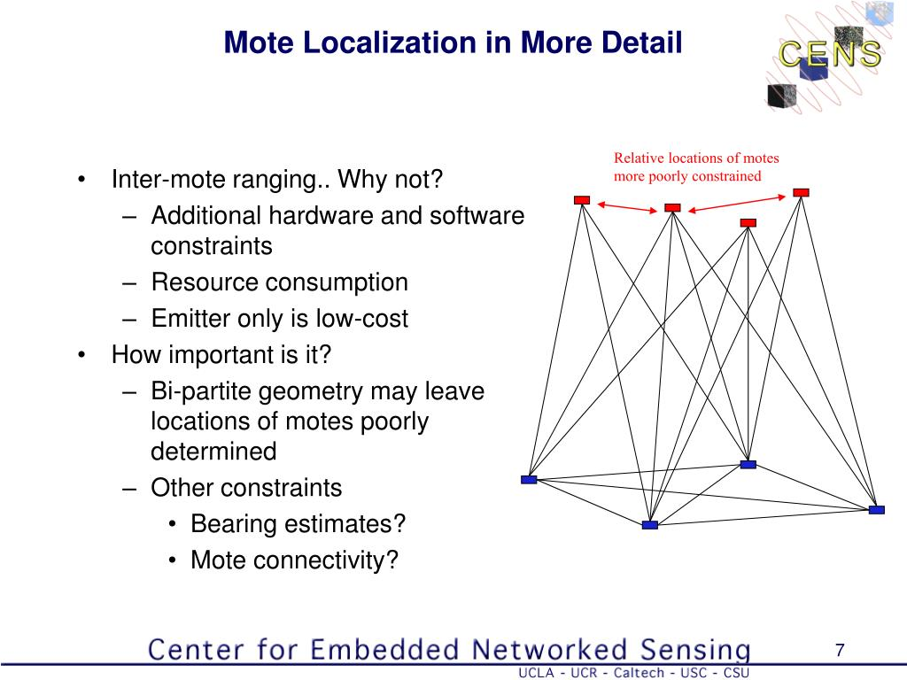Mote Localization in More Detail