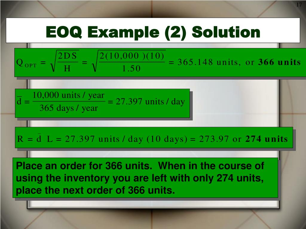 eoq with price breaks pdf