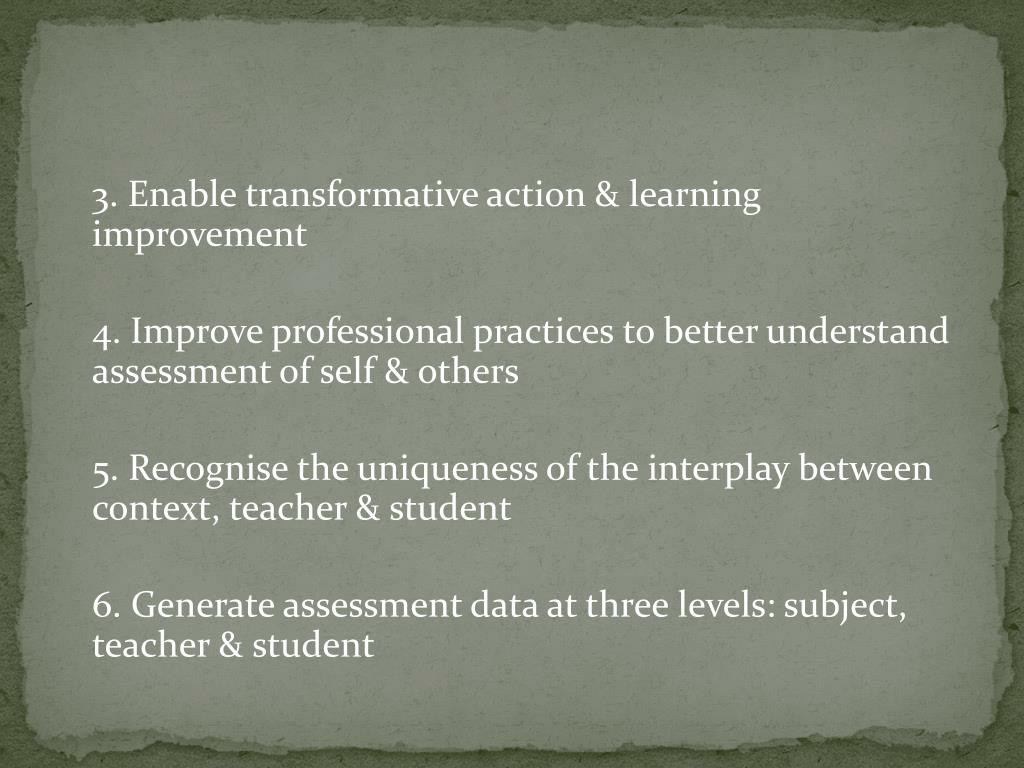 3. Enable transformative action & learning improvement