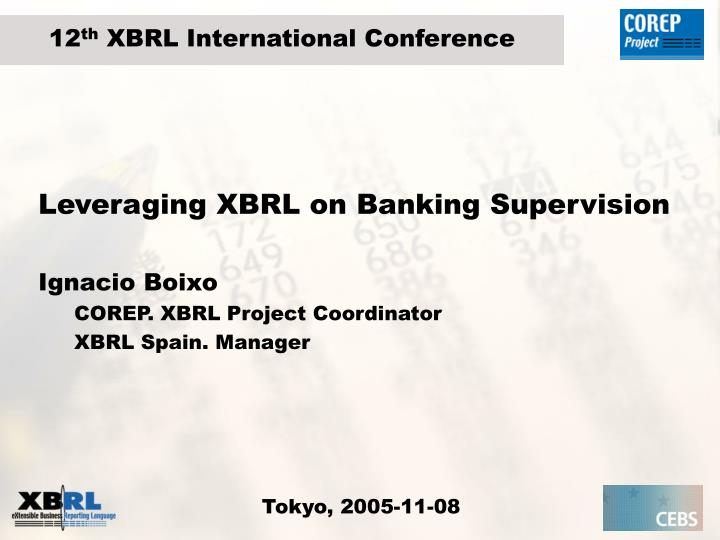 Leveraging xbrl on banking supervision