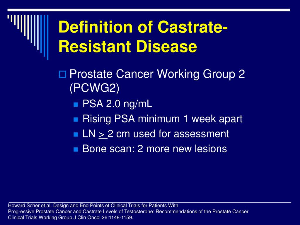 Definition of Castrate-Resistant Disease