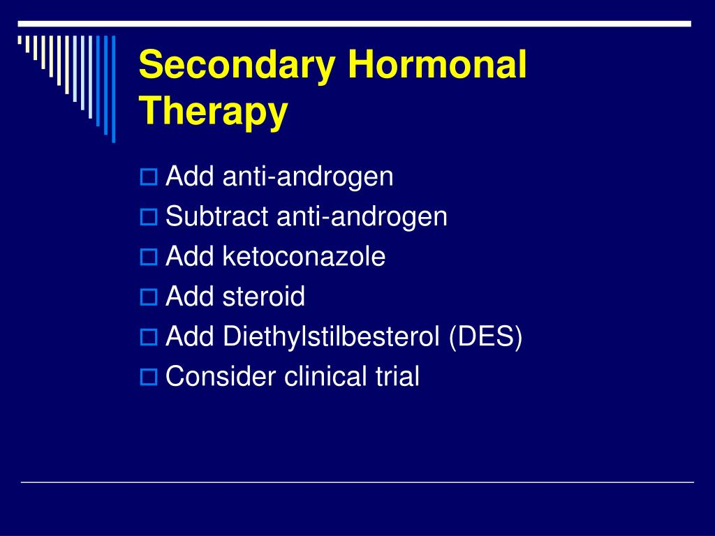 Secondary Hormonal Therapy