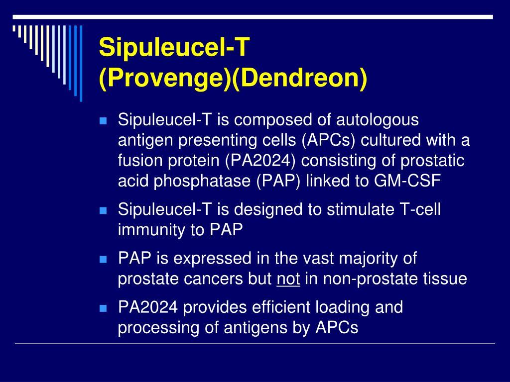 Sipuleucel-T (Provenge)(Dendreon)