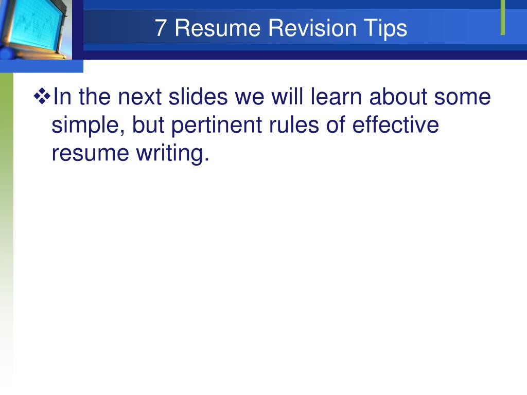 Resume Revision Virtren Com