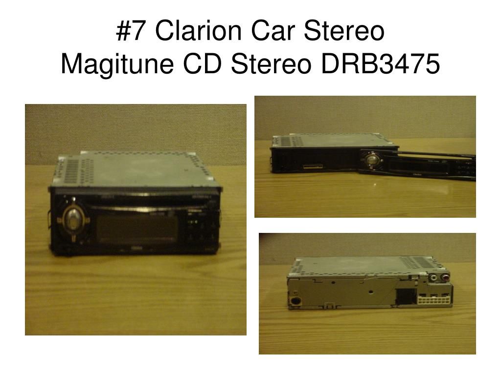 #7 Clarion Car Stereo