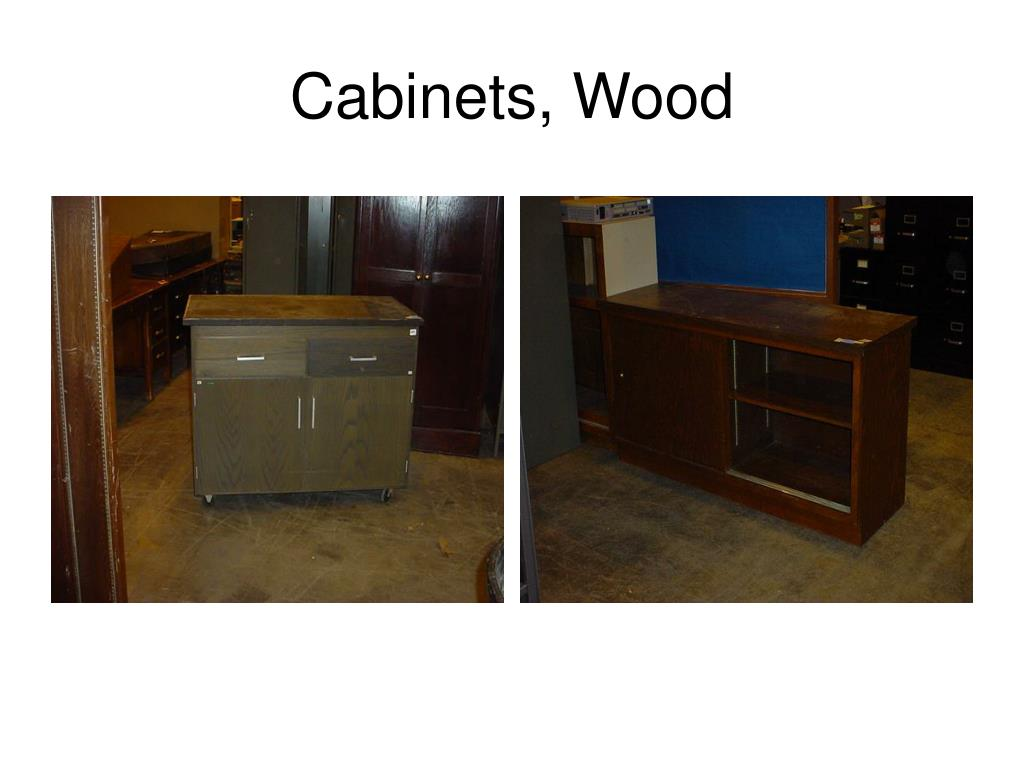 Cabinets, Wood