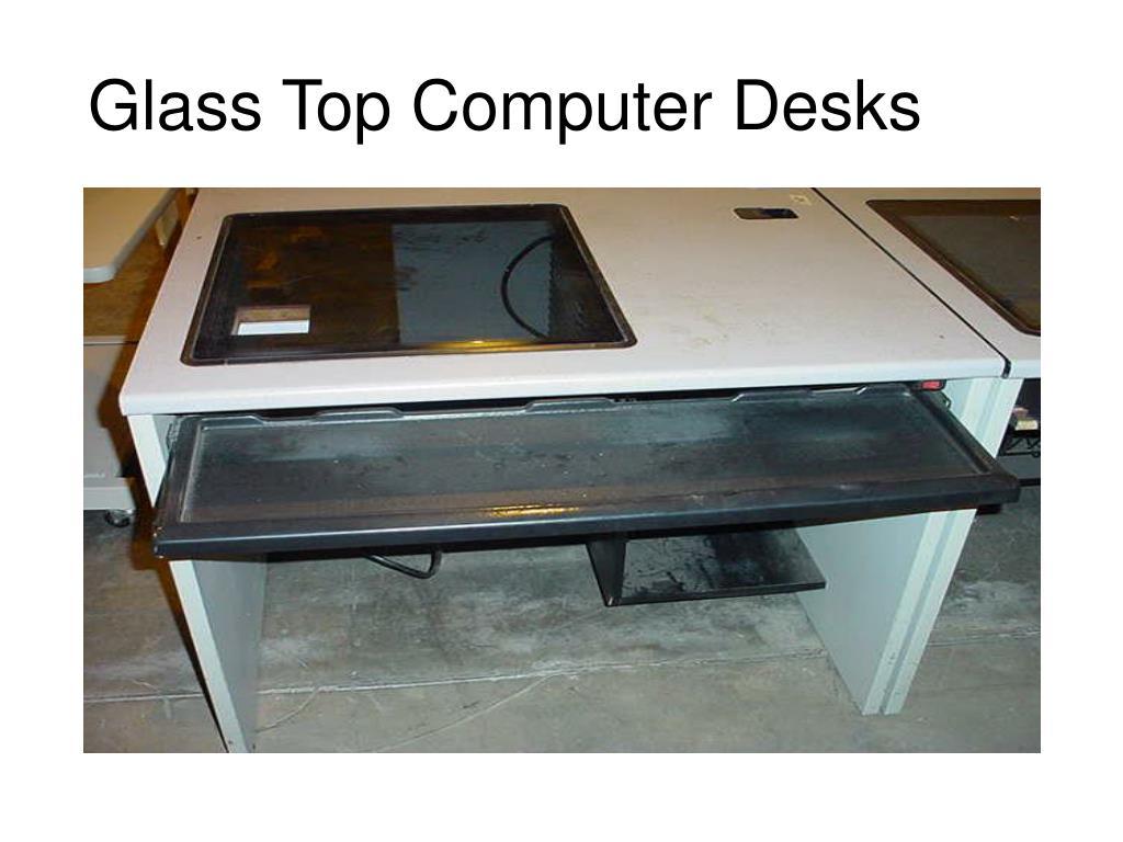 Glass Top Computer Desks