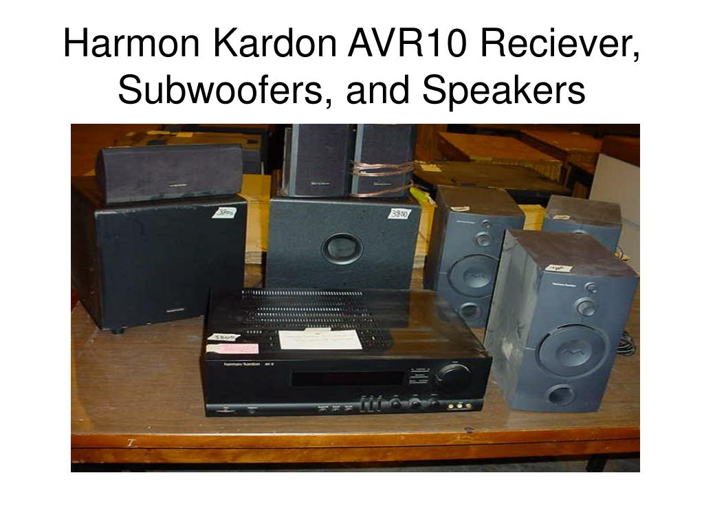 Harmon Kardon AVR10 Reciever, Subwoofers, and Speakers