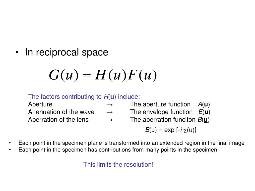 In reciprocal space
