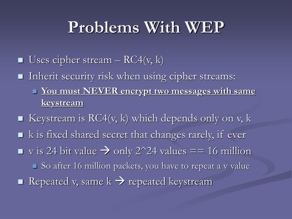 Problems With WEP