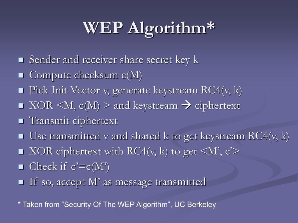 WEP Algorithm*