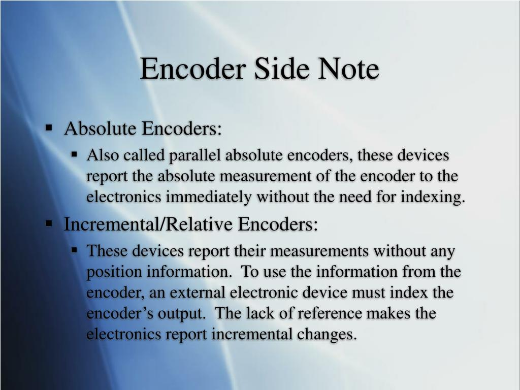 Encoder Side Note