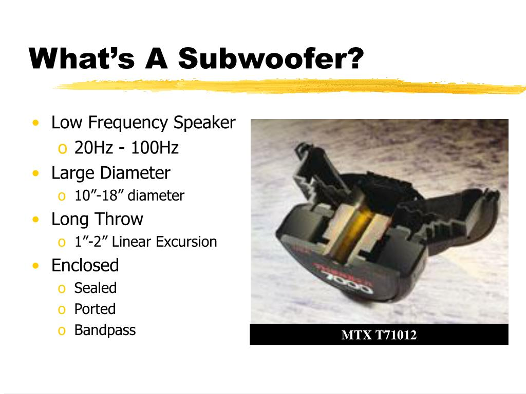 What's A Subwoofer?