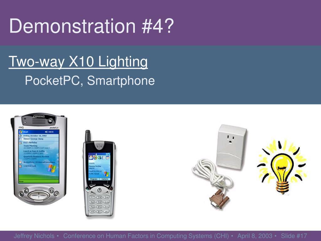 Two-way X10 Lighting
