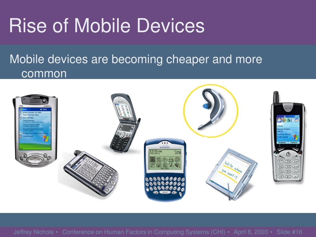 Rise of Mobile Devices