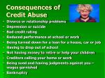 consequences of credit abuse
