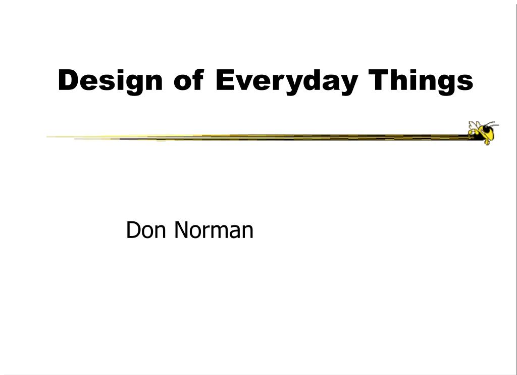Design of Everyday Things