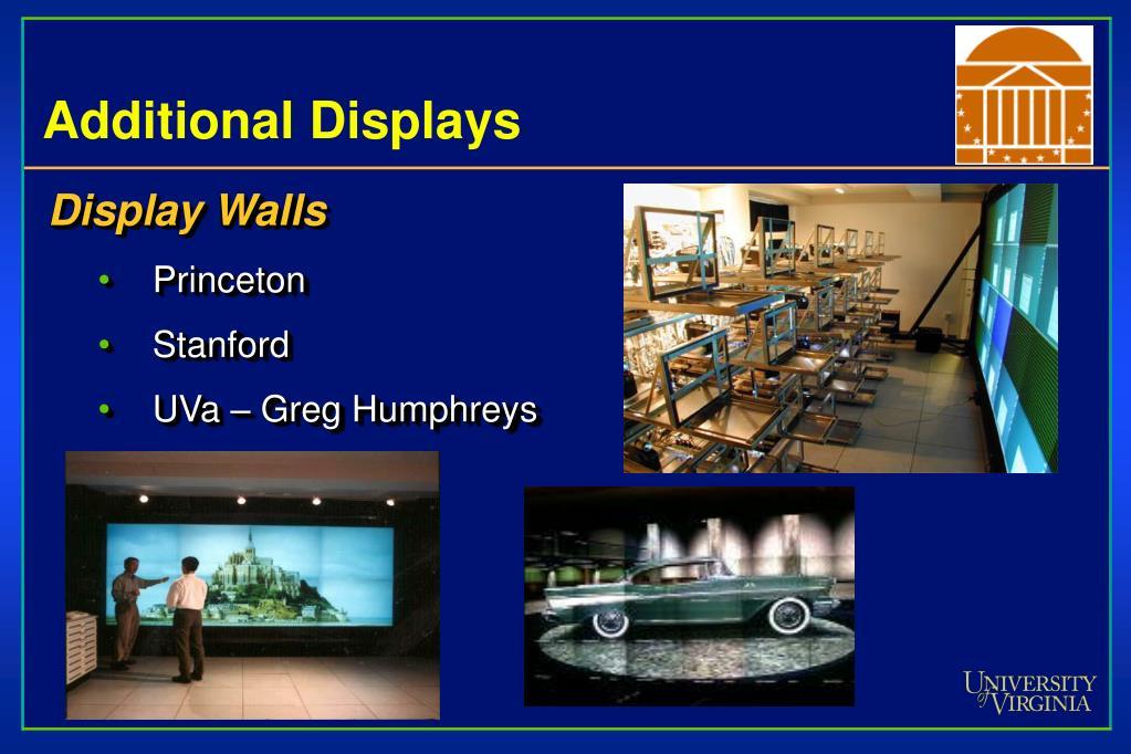 Additional Displays