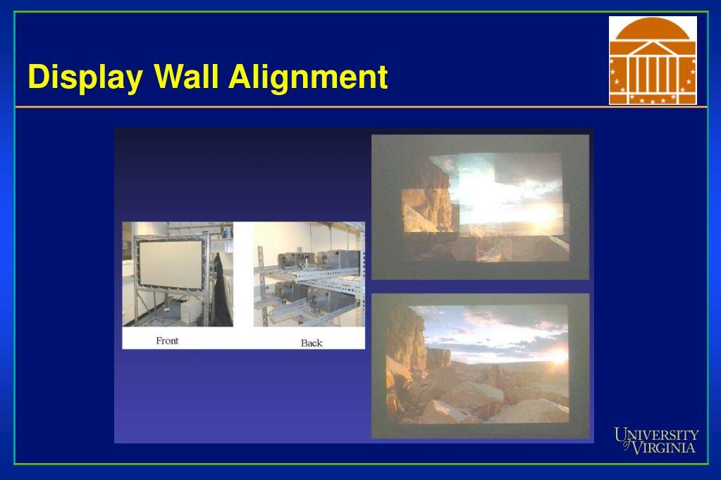 Display Wall Alignment