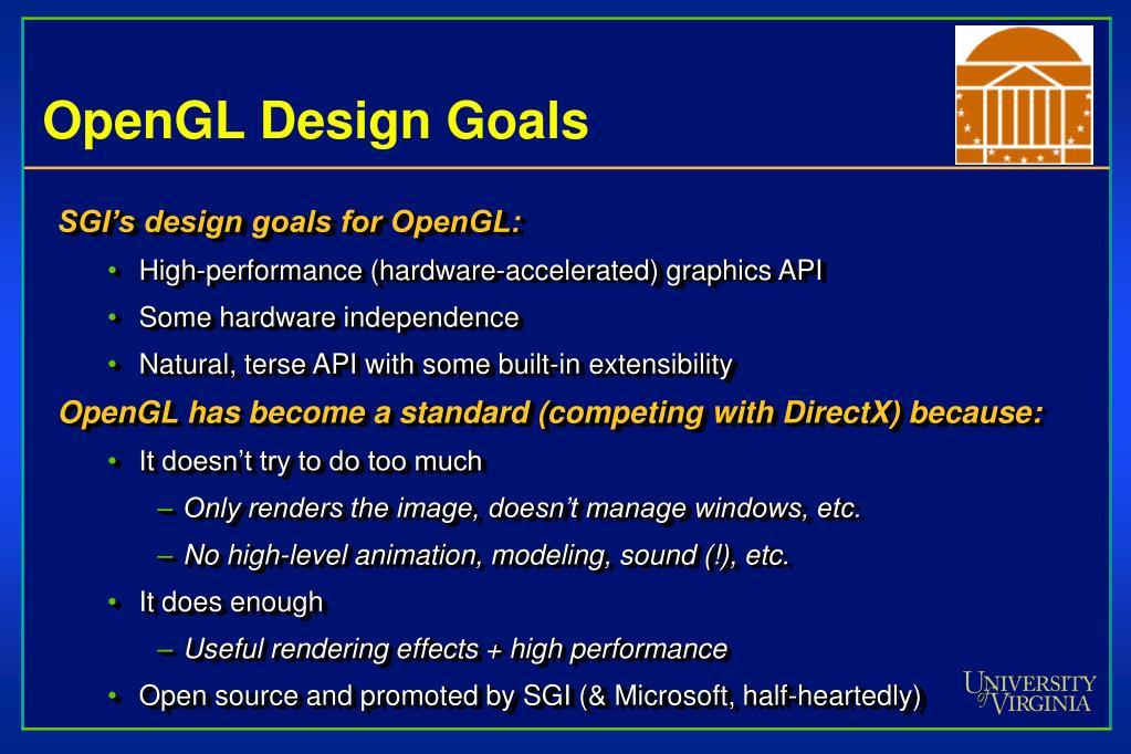 OpenGL Design Goals