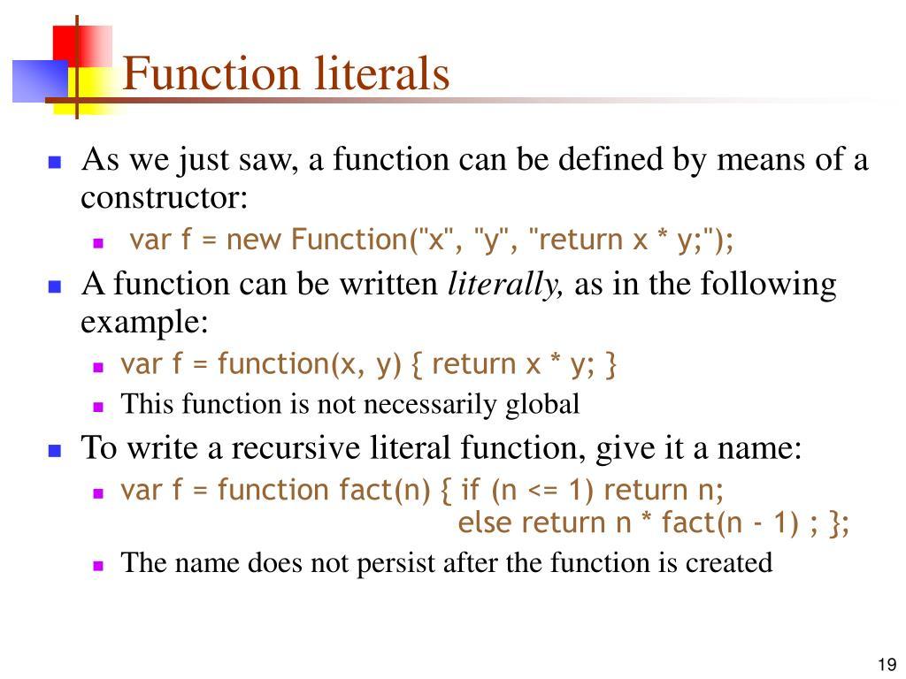 Function literals