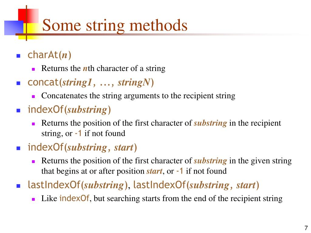Some string methods