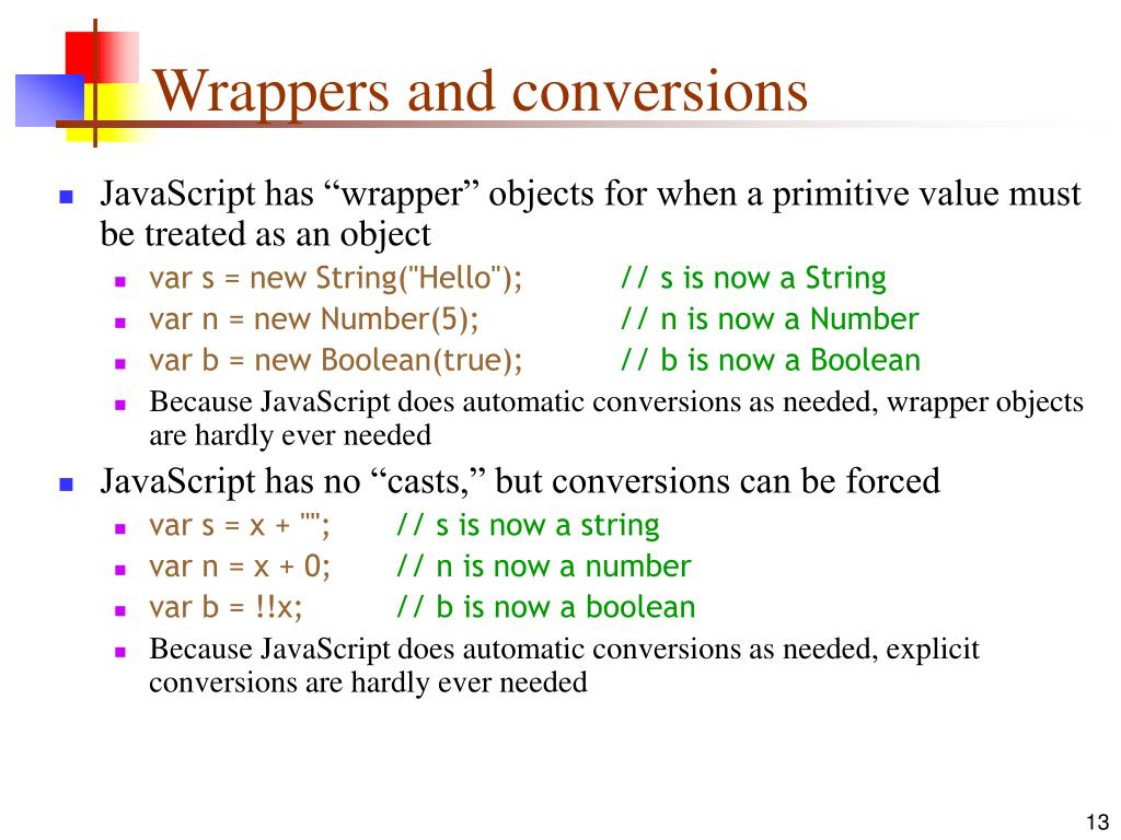 Wrappers and conversions