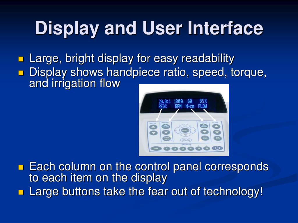 Display and User Interface