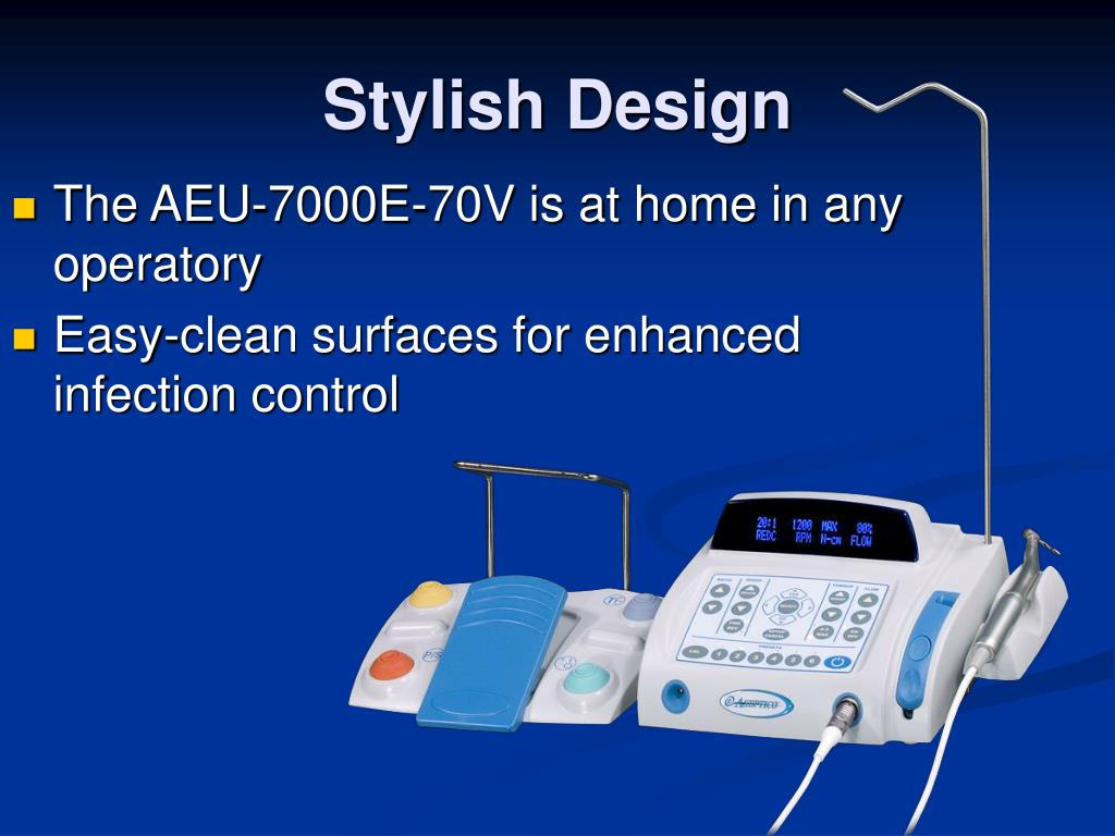 The AEU-7000E-70V is at home in any operatory