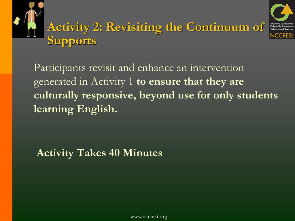 Activity 2: Revisiting the Continuum of Supports