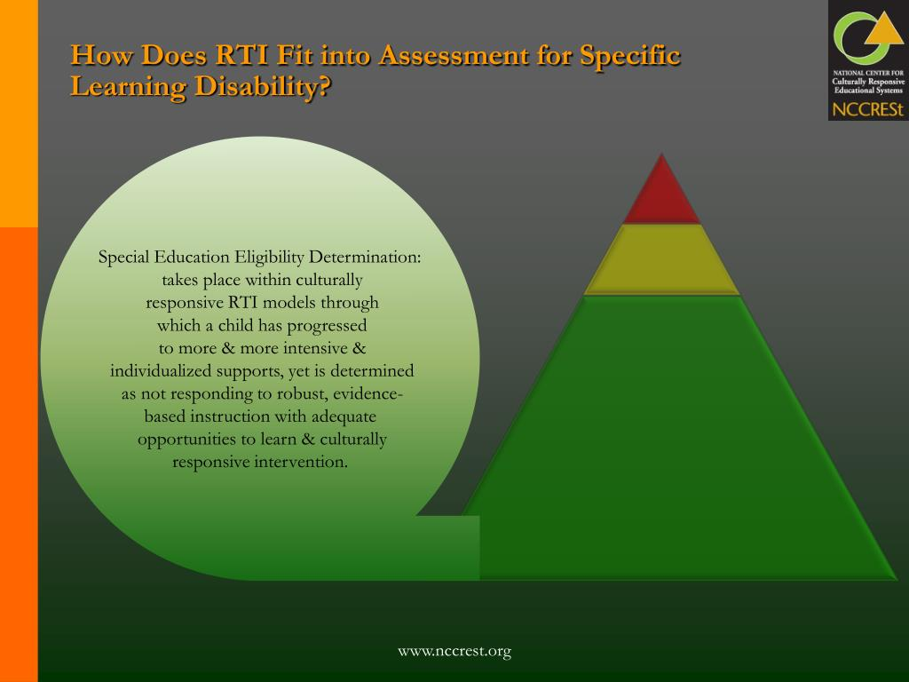 How Does RTI Fit into Assessment for Specific