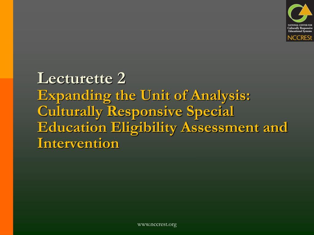 Lecturette