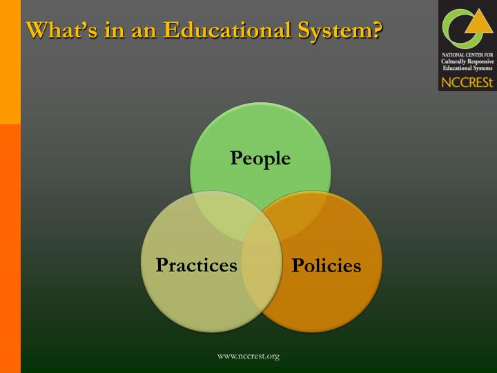 What s in an educational system l.jpg