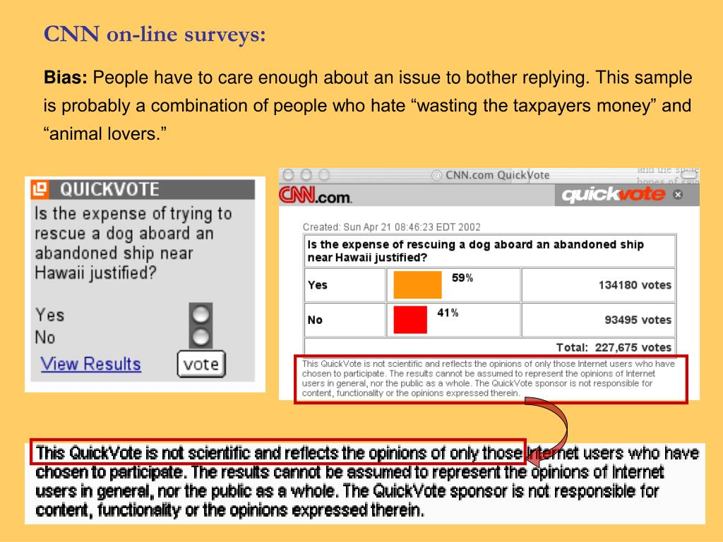 CNN on-line surveys:
