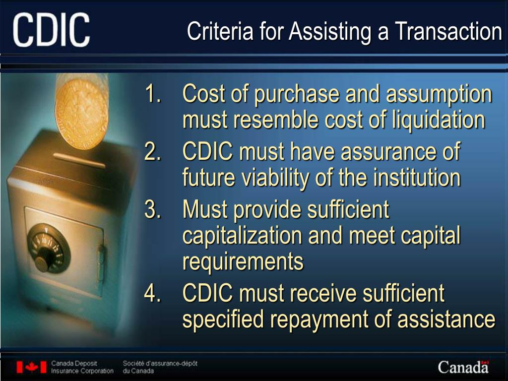 Criteria for Assisting a Transaction