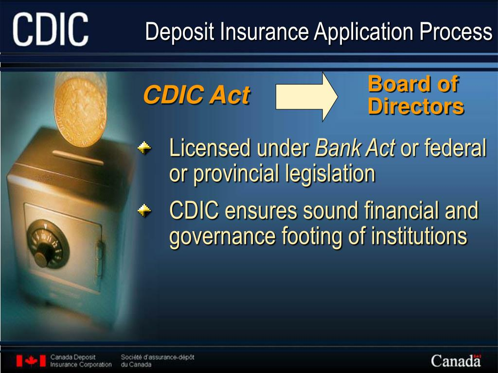 Deposit Insurance Application Process