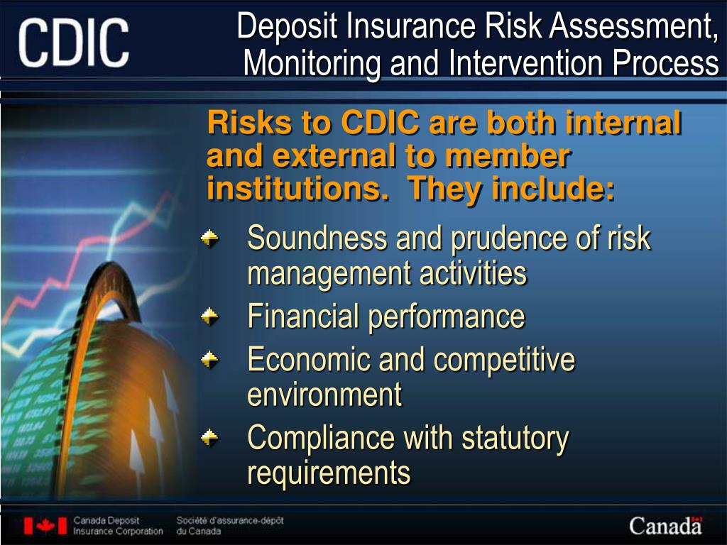 Deposit Insurance Risk Assessment, Monitoring and Intervention Process