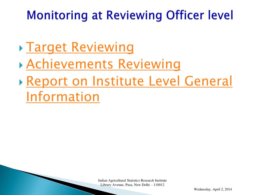 Monitoring at Reviewing Officer level