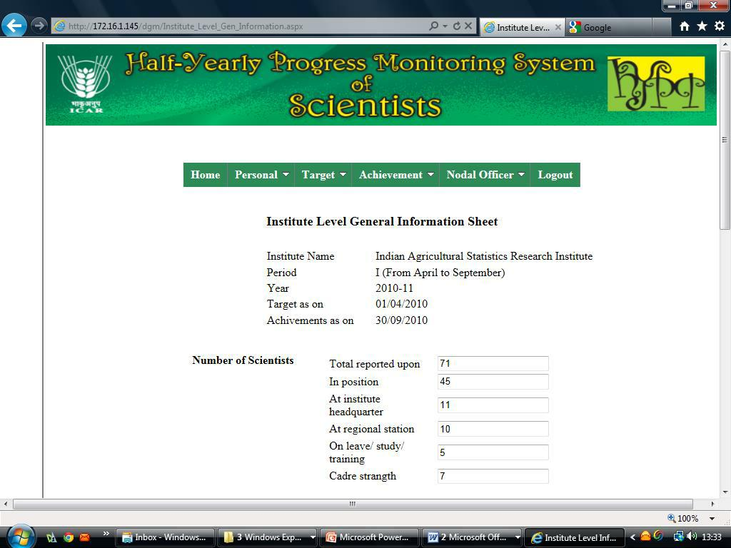 Indian Agricultural Statistics Research Institute