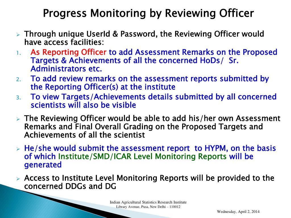 Progress Monitoring by
