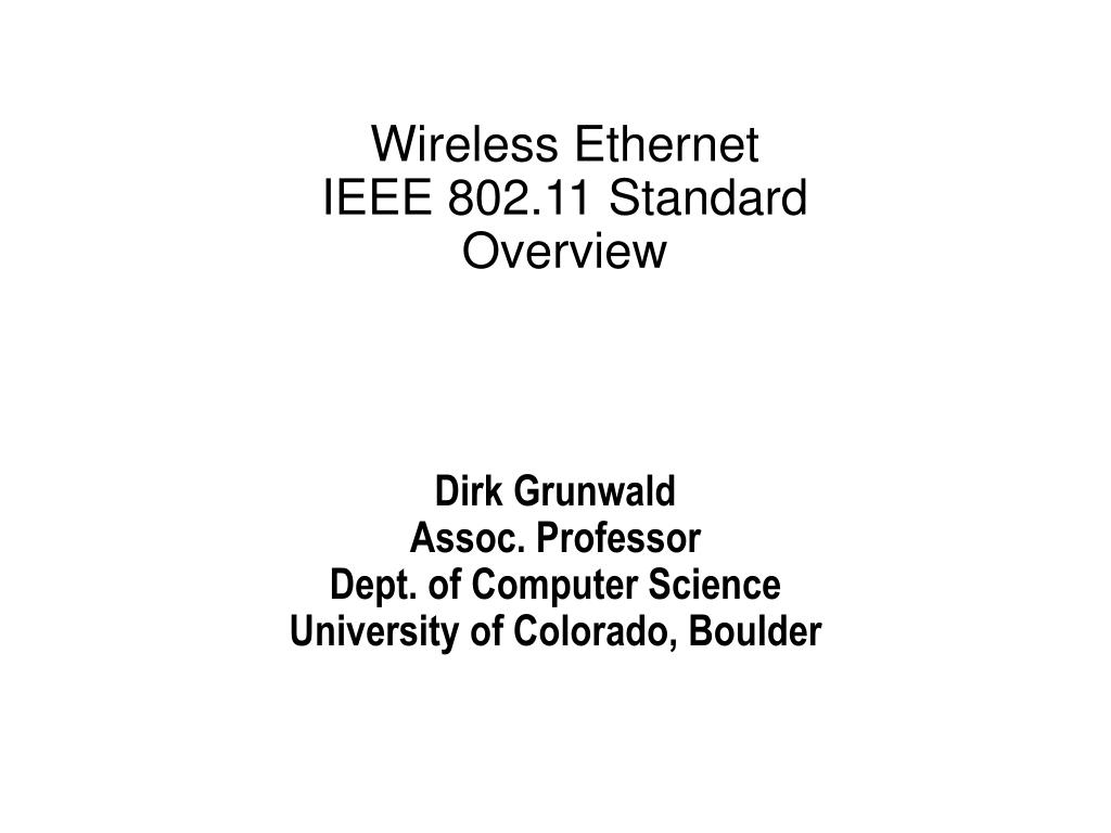 Wireless Ethernet