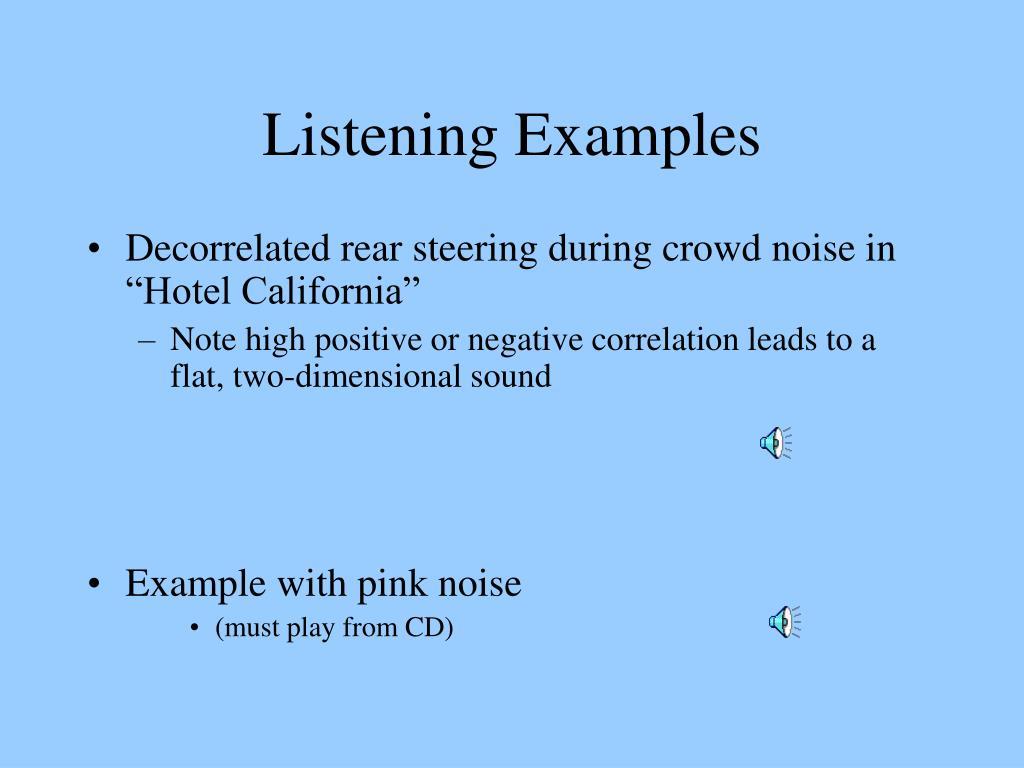 Listening Examples