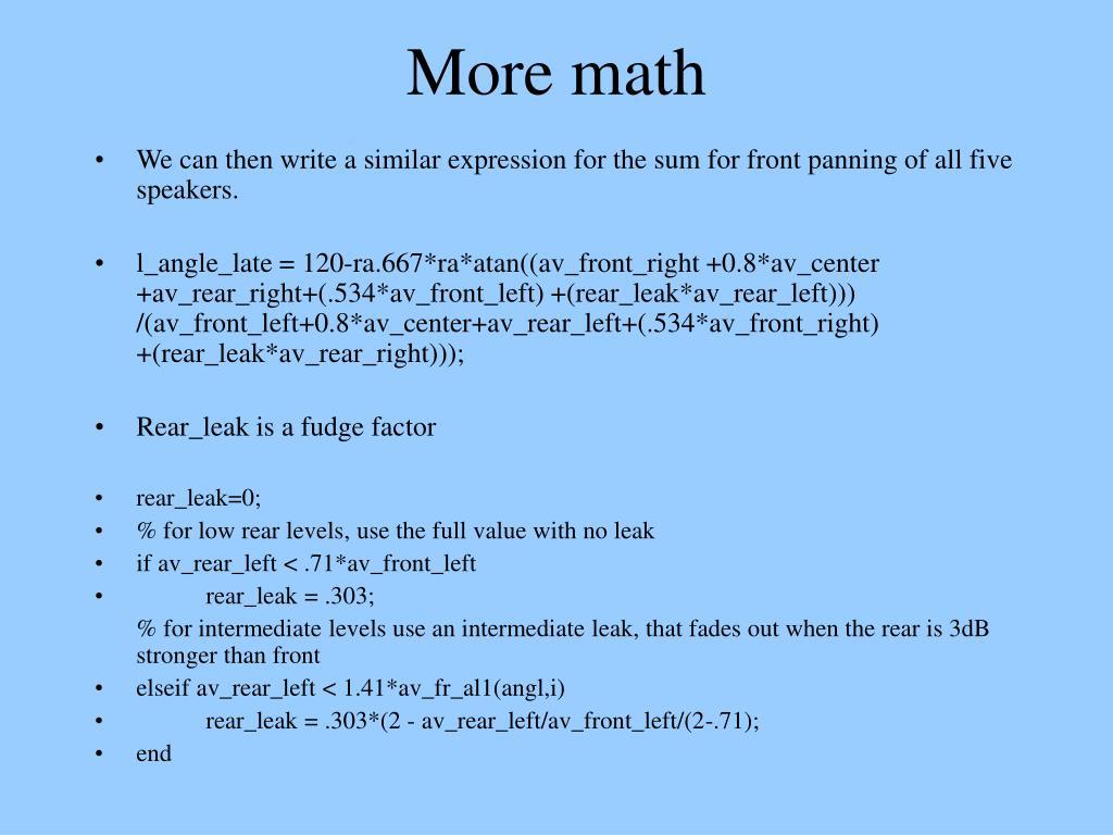 More math